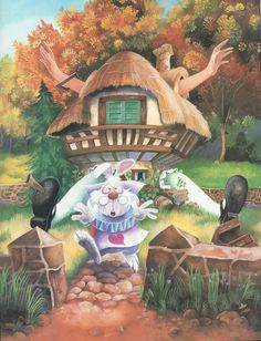 alice in white rabbit's house book page 2