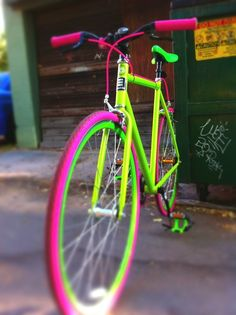 Neon painted bike - cool colors