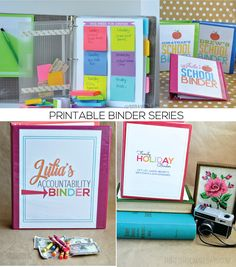 Binder Series from www.thirtyhandmadedays.com  Includes printables for 4 different important binders! Awesome ideas and easy to use.