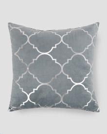 "Metallic Plush Decorative Pillow 20"""