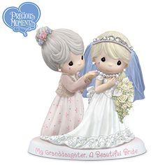 "Precious Moments Figurine ""My Granddaughter, A Beautiful Bride"""