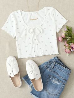 Cute Lazy Outfits, Trendy Summer Outfits, Crop Top Outfits, Retro Outfits, Stylish Outfits, Kpop Fashion Outfits, Girls Fashion Clothes, Cute Fashion, Girl Outfits