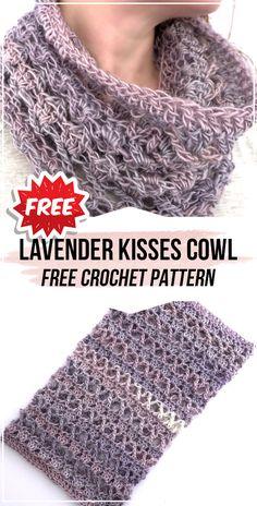 Crochet scarves 775533998320944157 - crochet Lavender Kisses Cowl free pattern – easy crochet cowl pattern for beginners Source by allyntel Crochet Lace Scarf, Crochet Cowl Free Pattern, Crochet Scarves, Knitted Cowls, Crocheted Scarves Free Patterns, Free Cowl Knitting Patterns, Crochet Accessories Free Pattern, Knit Cowl, Hand Crochet