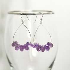Purple Amethyst Teardrop Earrings – Sterling Silver  by:-MoonstarCharms