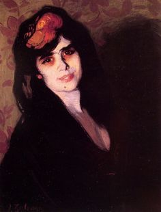 portrait of a young woman, Zuloaga y Zabaleta (1870 1945)