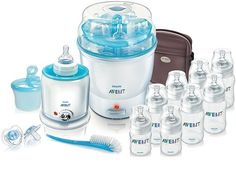 Avent bottles work great at work and have so many nipple/bottle shapes and options!