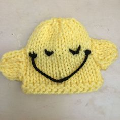 The Big Knit Challenge for Innocent Smoothies Newborn Crochet Patterns, Hat Patterns, Knitting Patterns Free, Free Knitting, Free Pattern, Build A Bear Clothes Pattern, Knit Crochet, Crochet Hats, Knitting For Charity