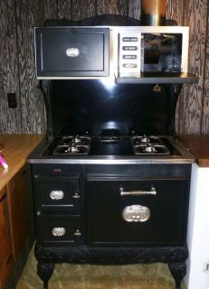 Kenmore Country Kitchen Stove Antique 1940s Iron Gas