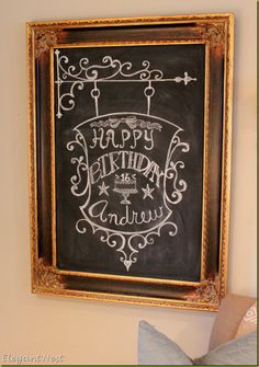 Happy Birthday Chalk Art...