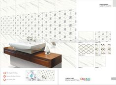 hot sale bathroom 3d inkjet digital ceramic wall tiles for Nigeria projects 5005