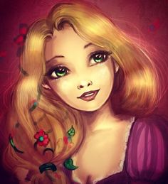 Rapunzel // Disney art // Tangled // Disney princess The Loss of Disney Art http://blog.rosemarybabikan.com/