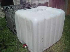 275 gallon totes are easy to clean and are great for a rainwater collection system.