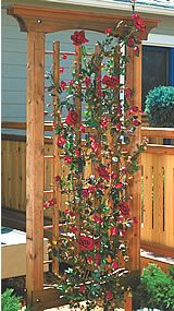 garden trellis woodworking wood project plan