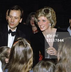 """October 10, 1985: Princess Diana at the gala opening of """"Les Miserables """" at the Barbican Centre.  (Photo by Tim Graham/Getty Images)"""