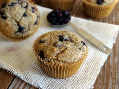 Link to recipe for Blueberry Muffins with Lemon Stevia from Healthy Living How To
