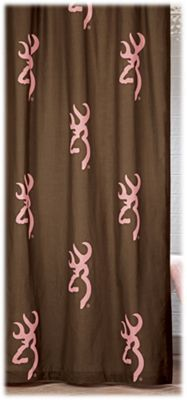 Browning Buckmark Pink and Brown Shower Curtain