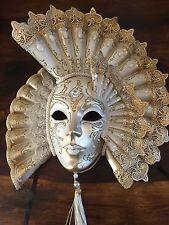 Wall hanging home decor authentique fait main papier mâché vénitiens grand masque