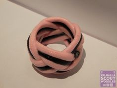 Glow in the Dark (GITD) Rose Pink and Black Small Paracord Scout Woggle  http://valhallawoggles.co.uk/shop/4592816839/glow-in-the-dark-(gitd)-rose-pink-black-small-paracord-woggle/11017246