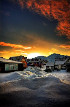 Daybreak. Greenland!