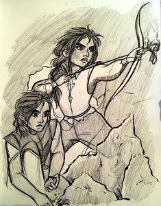 Nesryn and Sartaq Fan Art, Paige Walshe on ArtStation at https://www.artstation.com/artwork/xRz34
