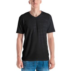 Get to know your new favorite tee - it's super smooth, super comfortable, and made from a cotton touch polyester jersey that won't fade after washing. V Shape T Shirt, V Neck T Shirt, American Veterans, Colorful Fashion, Stretch Fabric, Fabric Weights, Fitness Models, Shirt Designs, Tees