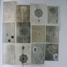 some gampi paper prints by american sculptor & printmaker kiki smith (b Kiki Smith, Altered Book Art, Textures Patterns, Print Patterns, Gravure, Contemporary Artists, Creative Inspiration, Textile Art, Art Boards