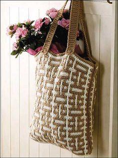 Mosaic Crochet Tote: free pattern