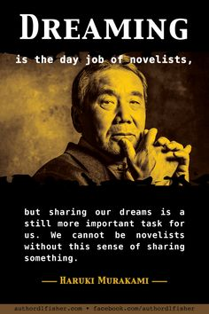 Writing inspiration from international best-selling author Haruki Murakami. Fiction Writing, Writing Advice, Writing Help, Writing Skills, Writing A Book, Writing Humor, Writing Software, Writing Ideas, Writing Images