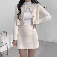 Korean Girl Fashion, Ulzzang Fashion, Kpop Fashion Outfits, Girls Fashion Clothes, Mode Outfits, Cute Fashion, Clothes Women, Japanese Fashion, Style Fashion