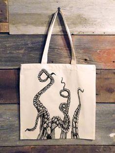 Custom Prints Flat Paper Bags Hand Printed Bags Kraft Paper Bags Letterpress Bags Day of Dead Custom Letterpress Merchandise Bags