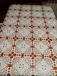 Best 12 Top 4 crochet tablecloth pattern you will like crochet tablecloth pattern square tablecloth motif lace free crochet pattern LTSFUFJ Crochet Tablecloth Pattern, Crochet Vest Pattern, Crochet Bedspread, Crochet Square Patterns, Crochet Diagram, Crochet Squares, Crochet Blanket Patterns, Crochet Motif, Crochet Doilies