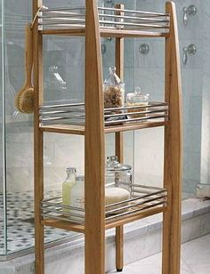 Enjoy commence and beauty in your shower without the worry of durability with the Three-tier Teak Shower Shelf; a kiln-dried piece so handsome, you won't want to hide it away in your bathroom.