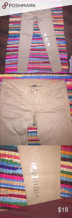 NWTO Tan jeggings American eagle NWTO tan jeggings size 6. American Eagle Outfitters Jeans Ankle & Cropped