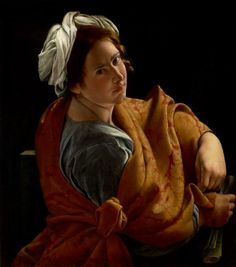 The young woman in this painting by Orazio Gentileschi has been identified by scholars as the artist's daughter, Artemisia Gentileschi. A renowned painter . Caravaggio, Italian Painters, Italian Artist, Artemisia Gentileschi Paintings, Orazio Gentileschi, Kunsthistorisches Museum, Baroque Painting, Baroque Art, Google Art Project