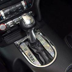 Ford Mustang Bling Gear Shift Knob Rhinestone Decal Sticker - Car X Bling Car Accessories, Wrangler Accessories, Car Interior Accessories, Car Interior Decor, Car Accessories For Girls, Ford Mustang Accessories, Honda Accord Accessories, Pink Car Interior, 4runner Accessories