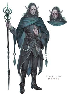 ArtStation - Elven Story - Druid, Naz Nemati