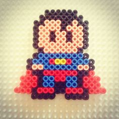 Superman hama beads by cherrydomatesi