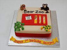Cake salmon, leeks and dill - Clean Eating Snacks Zoo Birthday Cake, Boys First Birthday Cake, 1st Birthday Cakes, First Birthday Parties, Birthday Ideas, Dear Zoo Cake, Dear Zoo Party, Aries Birthday, Beautiful Birthday Cakes