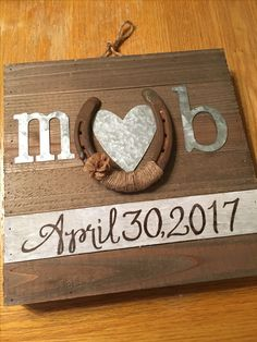 Wedding Gift for a rustic wedding theme.  Our friends got married at their barn.