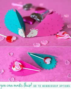 Looking for unique Valentines to pass out? These papercut hedgehog valentines are cute and simple to make, especially with a cutting machine. Valentines For Kids, Valentine Day Crafts, Holiday Crafts, Mason Jar Crafts, Mason Jar Diy, Popular Crafts, Diy Papier, Crafts To Make And Sell, Dollar Store Crafts