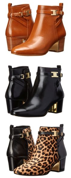 Buckle booties by Michael Kors - i'll take a pair in each color, please!