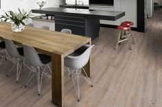 Hydrocork Flooring by Wicanders. Proudly distributed in NZ by Quantum. Why cork? A lifetime guarantee on an eco-friendly solution that is waterproof and tested for quiet and comfort. Basement Bathroom, Bathroom Ideas, Floating Floor, Cork Flooring, Grey Oak, Carpet Tiles, Alaska, Dining Table, Eco Friendly