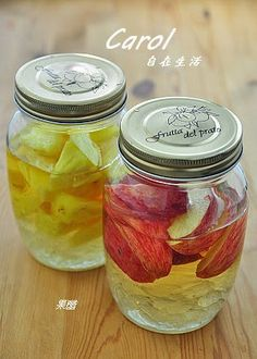 Carol 自在生活 : 蘋果醋。鳳梨醋