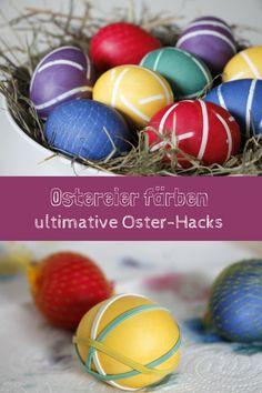 Ostereier färben: Tipps und Techniken zum Ostereier färben. Mit diesen Oster-Hacks bekommen Ostereier Muster und Ostereier kräftige Farben. Gefärbte Ostereier sind nicht nur toll für das Osterfrühstück, sondern eignen sich auch als Osterdeko.