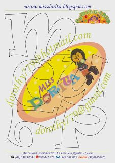 Miss Dorita: Paneles Lettering Design, Hand Lettering, Letter Stencils, Art Plastique, Tweety, Origami, Pikachu, Applique, Happy Birthday