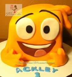 Squidgy from Justin Time birthday cake