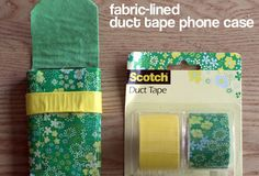 Fabric-Lined Duct Tape iPhone Case