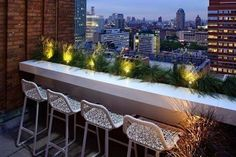 Small outdoor space? Skip the table & set up a bar!