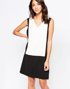 Vero Moda Color Block Sleeveless Shift Dress