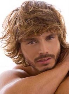 Men's Messy Natural Culry Hairstyle Mono Top Human Hair Wig About 10 inches Beautiful Men Faces, Gorgeous Men, Gorgeous Hair, 100 Human Hair Wigs, Blonde Guys, Raining Men, Beach Hair, Beach Bum, Male Face